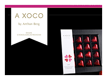 Webshopdesign til A XOCO, Anthon Bergs Chokolade Gastronomiske satsning - lavet for 1PX